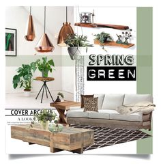 """""""Green Day Decor"""" by clotheshawg ❤ liked on Polyvore featuring interior, interiors, interior design, home, home decor, interior decorating, Dyberg Larsen, Sunpan, Sarreid and WoodWick"""