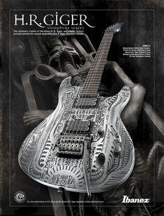 HR Giger designed guitar for Ibanez