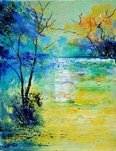 Pond 454190 Pol Ledent Belgium Painting Size: 19.7 H x 15.7 W x 0.8 in