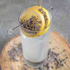 Lavender Honey Collins - The refreshing libation combines Bombay Sapphire gin, fresh lemon, lavender honey syrup and soda, plus a lavender sprig garnish.