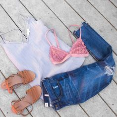 Our Crazy in Love Bralette is the perfect addition to your favorite summer outfit #uoionline