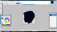 Make a silhouette using free software. No Photoshop required!