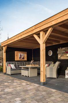 Freestanding Pergola Ideas - - Small Pergola With Roof - Pergola Shade Woods - Pergola Terrasse Leroy Merlin - Backyard Design, Patio Design, Backyard Pavilion, Pergola Designs, Garden Buildings, Deck Design