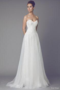 tony ward wedding dresses 2015 anemone strapless wedding dress