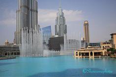 #burjkhalifa #fountain #lake #blue Burj Khalifa, Fountain, Skyscraper, Multi Story Building, Instagram Posts, Blue, Travel, Skyscrapers, Viajes