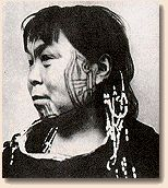 Eskimo woman with tattoos ,1954