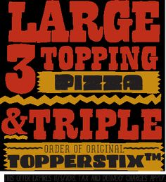 Toppers Pizza – Late Night Pizza Delivery, Topperstix, Thin Crust