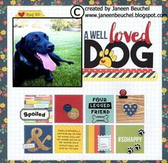 Picture of my sweet dog Bailey. Dog Scrapbook Layouts, Scrapbook Pages, Scrapbooking Ideas, Dog Pictures, Cute Pictures, Pet Dogs, Pets, Simple Stories, Fur Babies