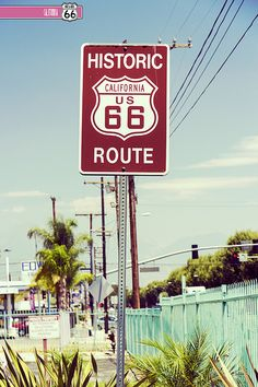 Route 66. CALIFORNIA