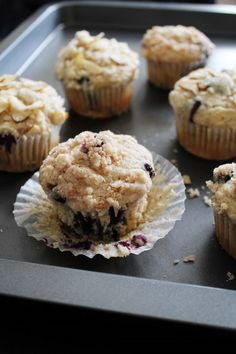 Eggless Blueberry Streusel Muffins Recipe