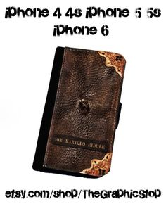 Harry Potter Inspired Tom Marvolo Riddle's Diary Wallet Case.Leather iphone 4/4s iphone 5/5s iphone 5c  iphone 6 & iphone 6 plus case by TheGraphicStop on Etsy https://www.etsy.com/listing/223716767/harry-potter-inspired-tom-marvolo