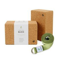 2 Yoga Blocks & 2-in-1 Yoga Belt Set