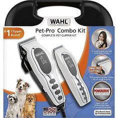 Cordless Pet Grooming Kit Clippers Professional Deluxe Dog Cat Fur Trimmer Tool #Wahl