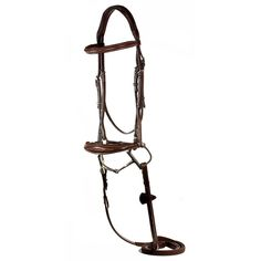 Beautifully crafted from Italian Leather. The Liliana features fancy ivory stitching and a soft padded noseband. The drop noseband buckles to the crownpiece on both sides creating a more secure adjustable fit. The bridle also features an anatomic padded inlaid crown for the horses comfort. Stainless Steel hardware. Matching raised and fancy stitched soft grip reins included.