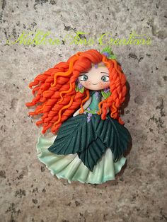 Merida green flower dress