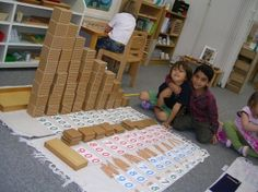The Montessori School of Tokyo - shows how effective practical place value is