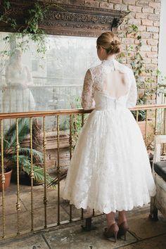 Pretty Short Vintage Wedding Dress