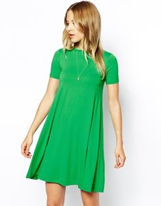 Swing Dress with Short Sleeves