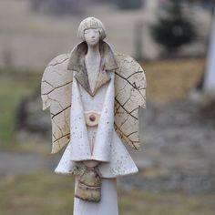 anioł biały płaszcz / JOANNA PIOTROWSKA / Dekoracja Wnętrz / Ceramika