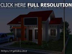 warna cat rumah minimalis merah outdoor indoor005