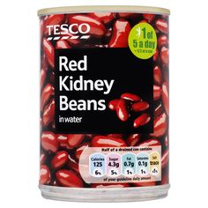 #Tesco! Red Kidney Beans in water.