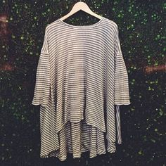 oversized stripe top