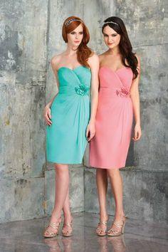 Bari Jay 554 Flower Bridesmaid Dress   MagicMomentsCollections.com