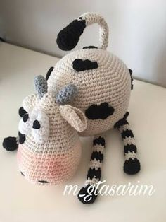 Leithygurumi: Crazy Cow Molly English and Turkish Pattern / Şapşik İnek Molly İngilizce ve Türkçe Tarif