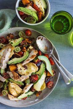 Avocado, Pumpkin, Haloumi and Quinoa Salad