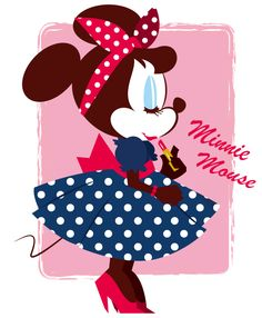 Disney Pin up Minnie Mouse Retro Disney, Disney Girls, Disney Love, Disney Magic, Disney Mickey, Disney Stuff, Disney And Dreamworks, Disney Pixar, Disney Characters