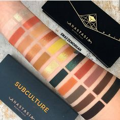I had a few requests to swatch compare shades from Subculture and Prism. I was surprised that some shades are pretty… Makeup Eye Looks, Love Makeup, Makeup Stuff, Makeup Shop, Makeup Palette, Eyeshadow Palette, Eyeshadows, Eye Palette, Makeup Swatches