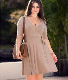H+ Vestido beige tallas grandes primavera-verano 2012