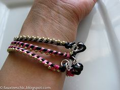 this was made with ball-chain! #bracelet #tutorial