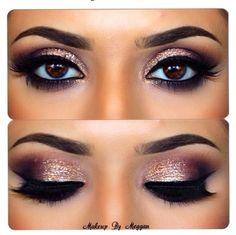 Smokey Eye Make-up - MakeUp Inspiration & Brands - Eye-Makeup Kiss Makeup, Cute Makeup, Pretty Makeup, Hair Makeup, Amazing Makeup, Makeup Hairstyle, Hairstyle Ideas, Gorgeous Makeup, Hair Ideas