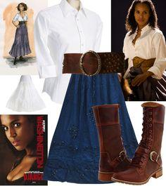 django-Broomhilda-skirt-belt-shirt-horse outfit2