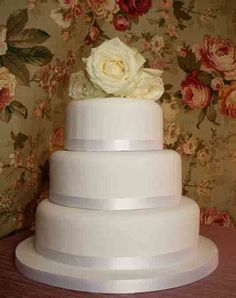 Wedding Cakes - Simple White  6, 8, 10 inch Round