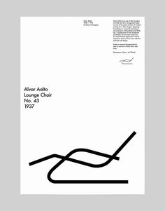 """My family had for unknown reasons this christmast a """"creative present"""". A present that you had to make, something crafted. So I decided to make a poster for my big sister and the I choose to make a small tribute to architect and designer Alvar Aalto. Graphisches Design, Book Design, Cover Design, Layout Design, Graphic Design Posters, Graphic Design Typography, Graphic Design Inspiration, Branding Design, Print Layout"""