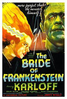 The Bride of Frankenstein - Horror Movie Poster Print  13x19 - Vintage Movie Poster - Boris Karloff