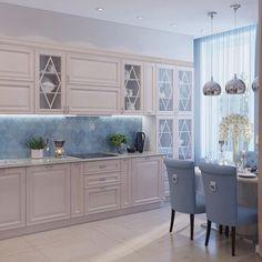 Likes, 67 Kommentare - Lee . Shabby Chic Kitchen, Home Decor Kitchen, Kitchen Furniture, Kitchen Interior, Home Kitchens, Kitchen Dining, Small Space Interior Design, Kitchen Cabinet Design, Cuisines Design