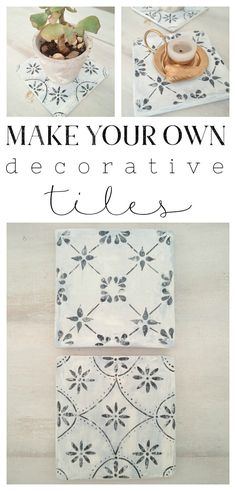 how to make your own decorative tiles // kreativk.net