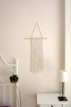 Ready to ship macrame wall hanging vintage style by WallKnot
