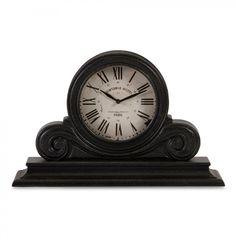 IMAX Wood Mantle Clock in Black - 16130