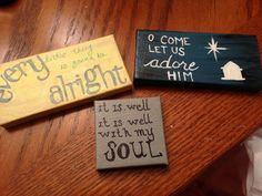Mini canvas paintings as ornaments