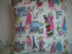 76  1 Novelty Pillow  April in Paris Theme  by NoveltyPillows4All, $29.00