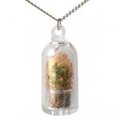 Mini terrarium Necklace - Cactus  by Soro Design