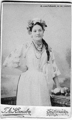Ukrainian woman from Luhansk, Ukraine, 1904