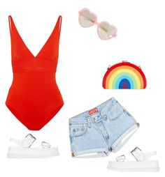 """""""Lolita at the beach"""" by princesaurbana ❤ liked on Polyvore featuring Cutler and Gross, Eres, Milly and STELLA McCARTNEY"""