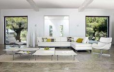 White sectional furniture sets for modern living room decor