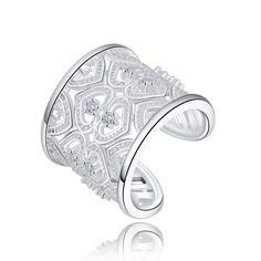 Martainn Sterling Silver Plated Rings Cubic Zirconia