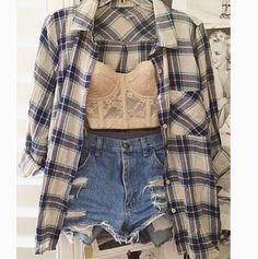 Blouse, bandeau and shorts
